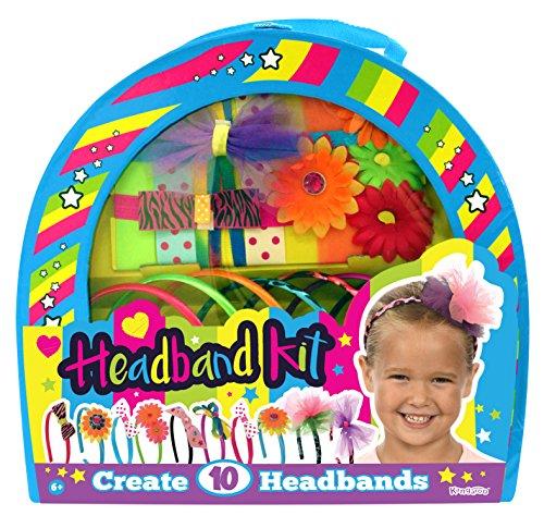 Kangaroo's Girls Toys; Kids Fashion Headbands Kit, 134 Pieces (Alex Ribbon Headband)