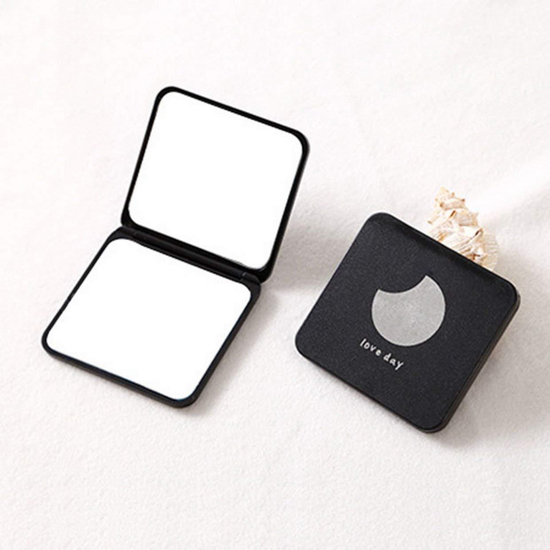 MXECO Specchio Quadrato Piccolo Specchio Portatile Specchio per Trucco Creativo Doppio Lato Specchio Tascabile Pieghevole Portatile a Due Lati