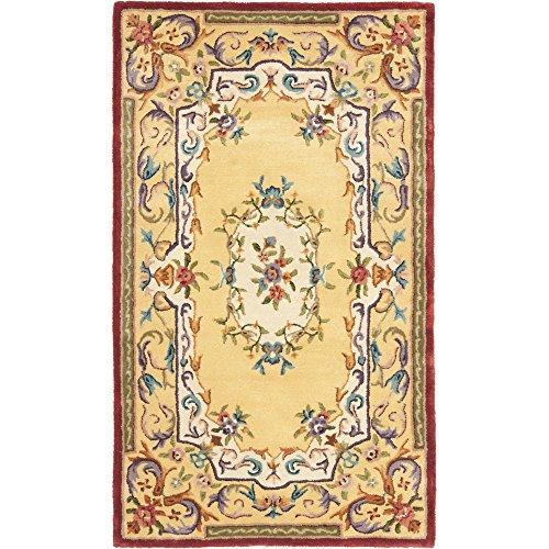 Safavieh Empire Collection EM822A Handmade Traditional European Gold Premium Wool Area Rug (3' x 5')