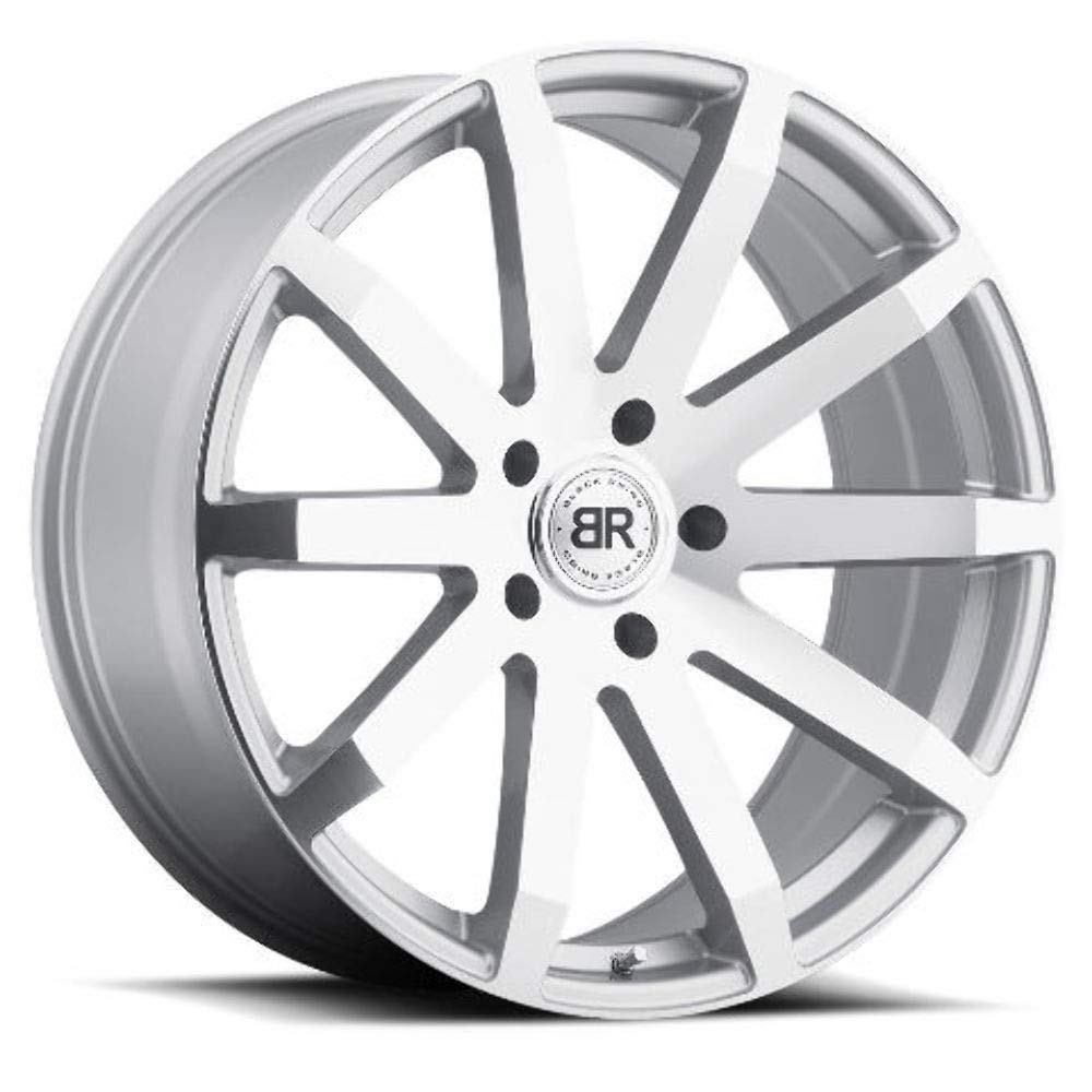 Black Rhino TRAVERSE Silver Wheel with Painted Finish (20 x 9. inches /5 x 150 mm, 30 mm Offset)