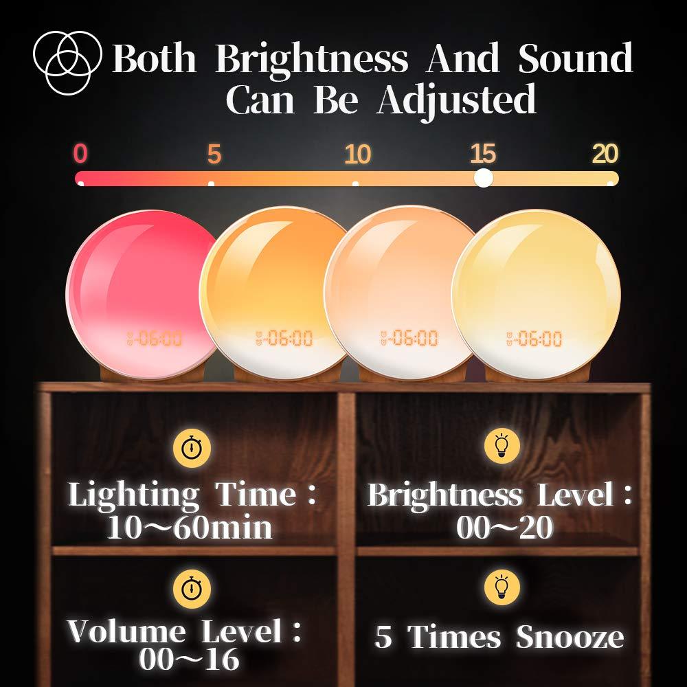 Amazon.com: Wake Up Light,TITIROBA Sunrise Simulation Dual ...