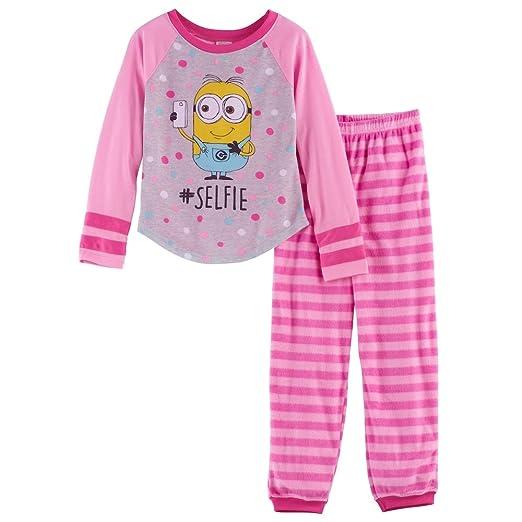 87128b8648bf8d Amazon.com  Despicable Me Minions Selfie Top   Fleece Bottoms Pajama ...