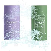 2pcs Green Tea Purifying Clay Stick Mask,Green Tea Face Peel Mask Blackhead Remover Acne Deep Cleansing,Improves Texture…