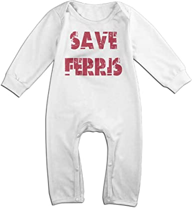 KIDDOS Baby Infant Romper Ferris Buellers Day Off Long Sleeve Bodysuit Outfits Clothes,White