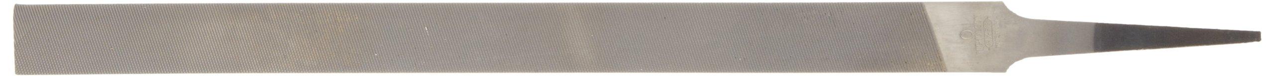 Nicholson Pillar File, Swiss Pattern, Double Cut, Rectangular, #0 Coarseness, 10'' Length