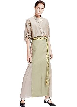 c1b724455a8 Image Unavailable. Image not available for. Color  My Bun 2017 Summer Women  Plus Size Cotton Linen Temperament Long ...