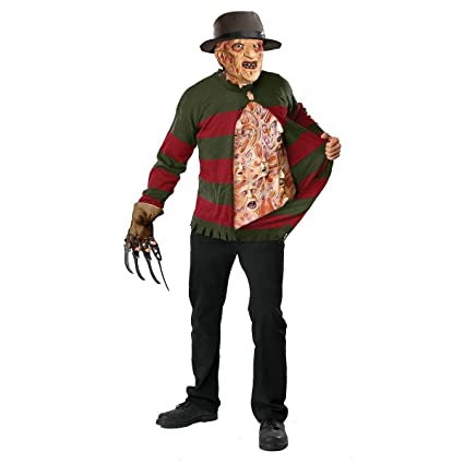 Amazoncom Freddy Krueger Sweater With Chest Of Souls Standard