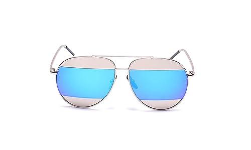 6e095198e1 GAMT Mirrored Aviator Sunglasses Fashion Designer Colorful Lens for Men and  Women Silver Frame Blue