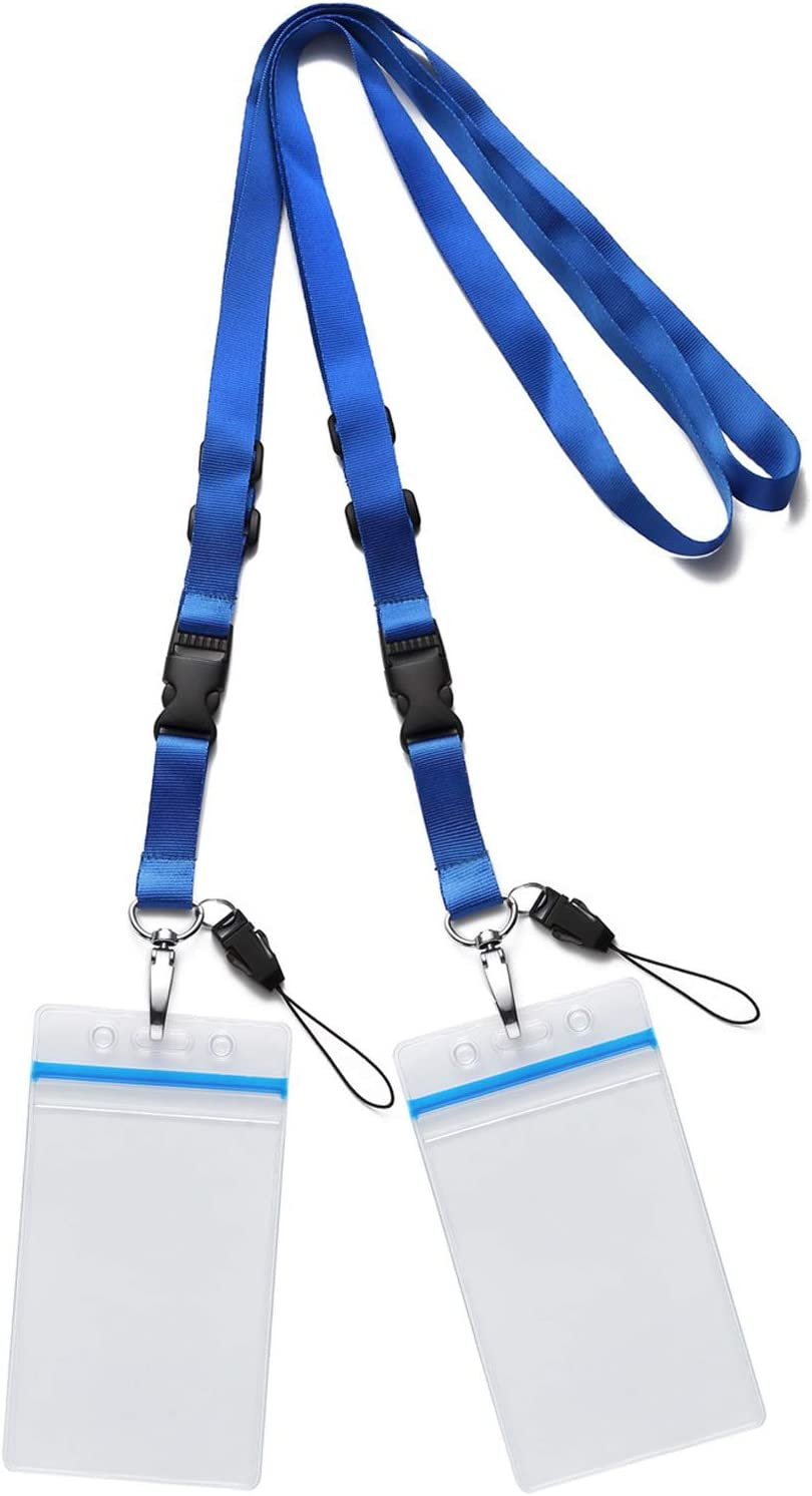 Neck Lanyards for Id Badges Nylon Neck Strap with Swivel Hook for Badges Name Tag ID Holder /& Cards Pass Holder Lanyard Office School Hall Library Conference Kids Women Men Teachers Keychain 12 PCS