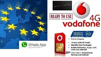 Vodafone Neue Sim Karte Kosten.Vodafone Holland Nl Mit 5 Guthaben 4g Lte Europa Prepaid Sim Freie Roaming In 31 Landern Eu Ewr Tethering Voip Skype Erlaubt 3 In 1