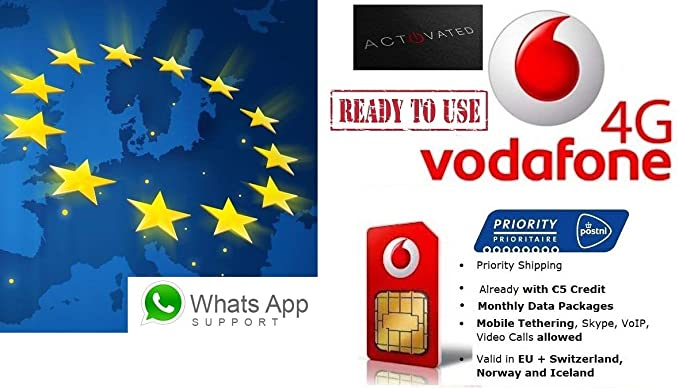 Tarjeta SIM de prepago europea, NL, 4 G/LTE, itinerancia de ...