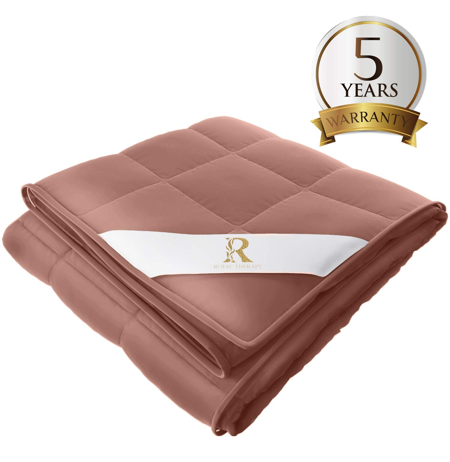 Royal Therapy Weighted Blanket Kids Bed (5 lbs for Kids, 36''x48'') 100% Calming Cotton Blanket with Glass Beads