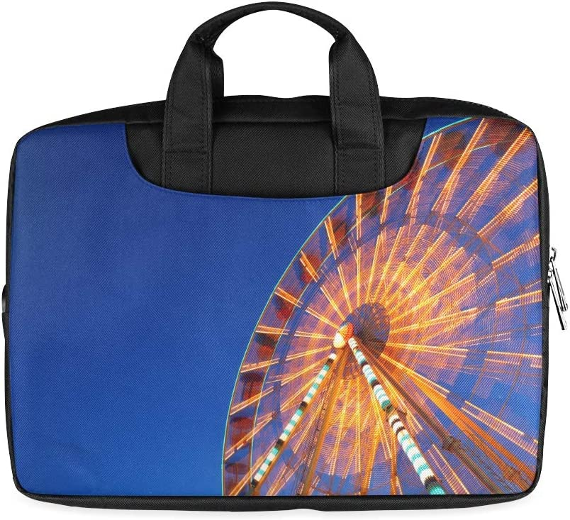 13 Inch at Night Beautiful Ferris Wheel Laptop Bags for Women with Handle Lightweight Laptop Case for Girls Fits MacBook Air Pro