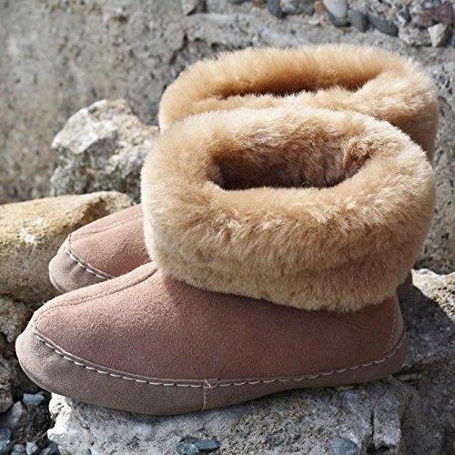 en Brown 100 Espaniol Merino d'agneau Shoes Pantoufles Hollert Premium cuir fourrure CdwxO6