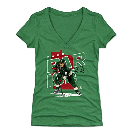 big sale b11d9 d67a1 Amazon.com : 500 LEVEL Zach Parise Women's Shirt - Minnesota ...