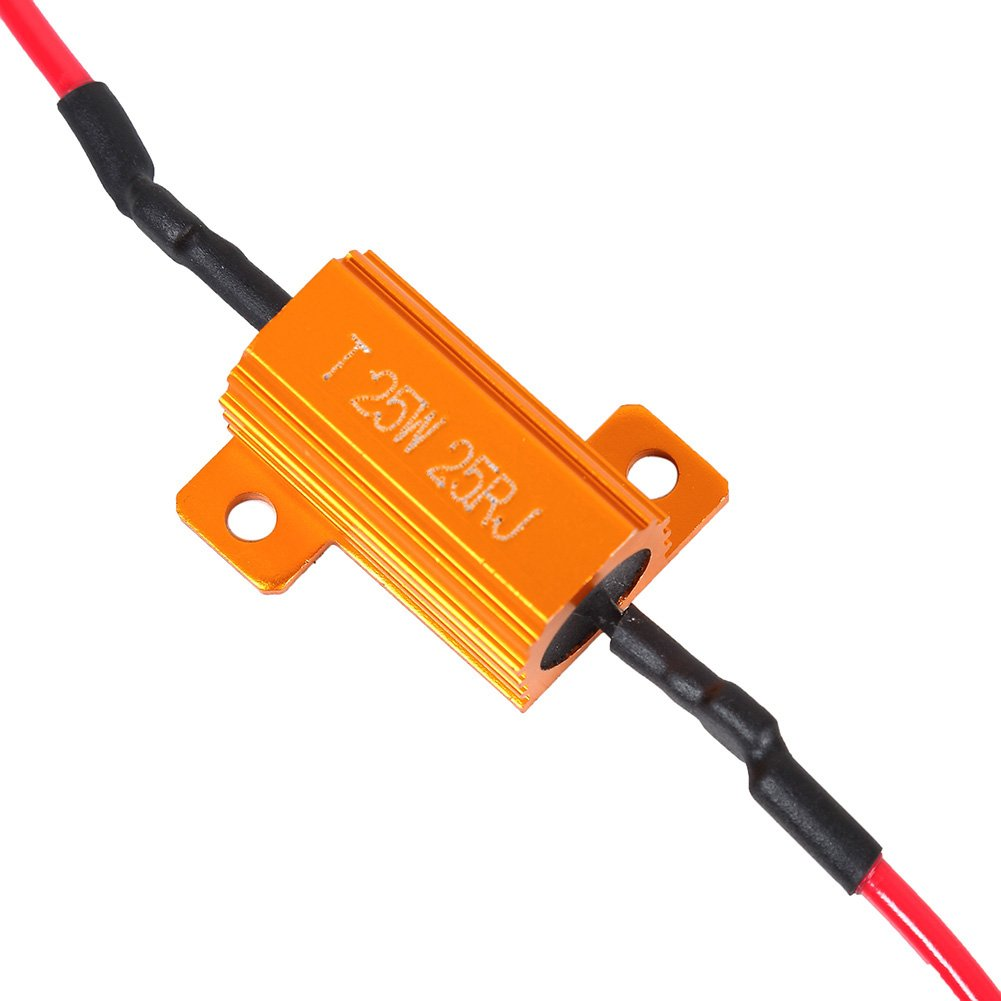 2 Pcs FOORDAY 25W 25ohm LED Load Resistor for Turn Signal LED License Plate Lights /& DRL LED Canbus Decoder