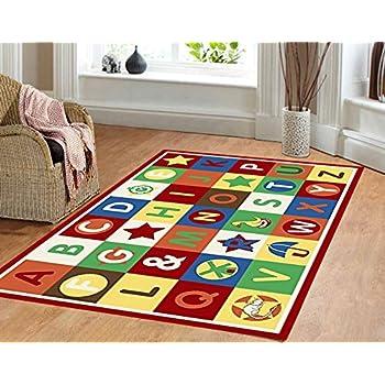 Furnish My Place 3u0027 X 5u0027 ABC Area Rug Alphabet Boxes Multicolor Area Rug