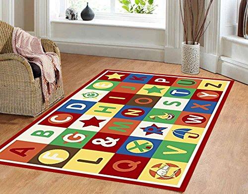 Furnish my Place 3' x 5' ABC area rug Alphabet Boxes Multicolor area rug Actual size 3'3