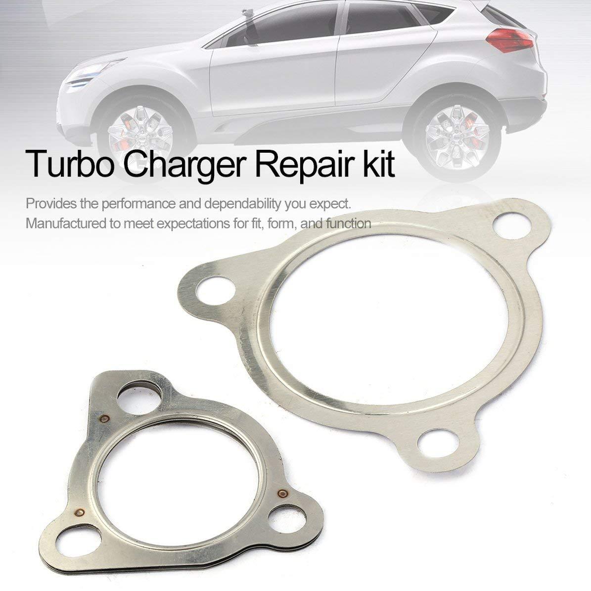 Turbocompresor Turbo Cargador Kit de reparación para reconstrucción de juntas y juego de tornillos Turbo Vehículos de automóviles Herramientas de ...