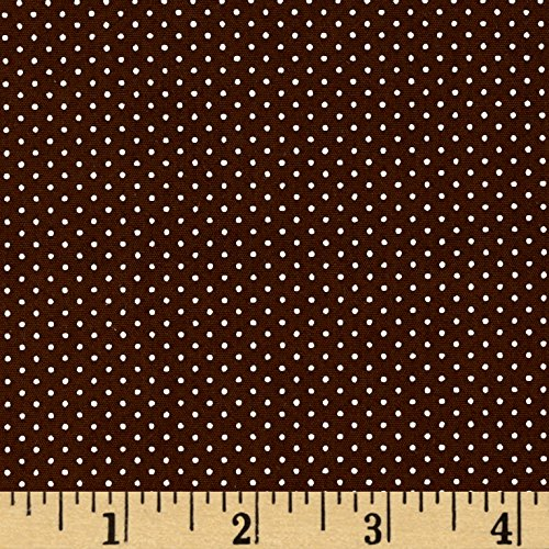 Robert Kaufman Sevenberry Petite Basics Mini Dot Fabric by The Yard, Brown ()