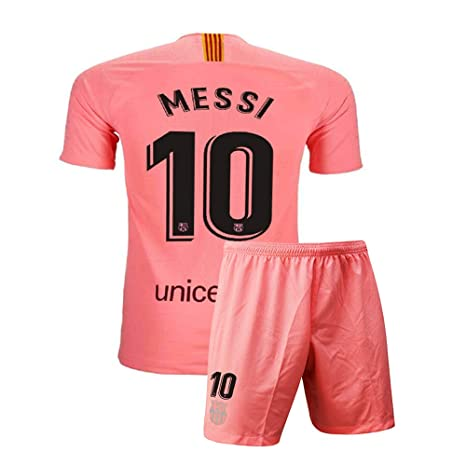 51636dbb0 Kids Barcelona  10 Youth Messi New 2018 19 Away Soccer Jersey   Shorts Sizes