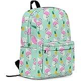 Flamingo School Backpack, Lightweight Cute Kids Backpack Classic Bookbag Cool Daypack for Teen Boys Girls High School Student