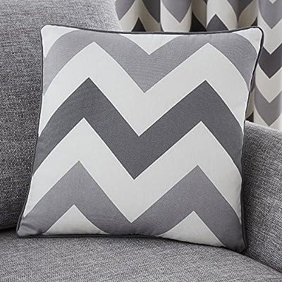 Fusion Chevron - Cojín Relleno de algodón, Color Terracota, algodón, Gris, Cushion (Filled): 43 x 43cm: Amazon.es: Hogar