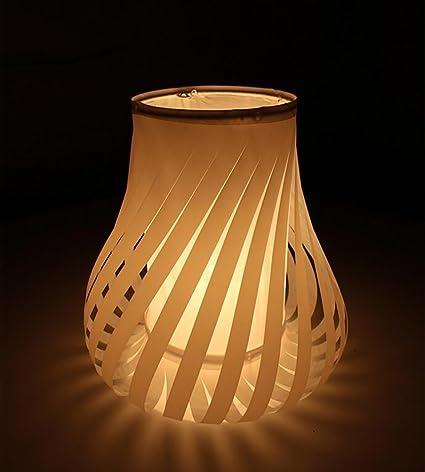 &Luz para leer Retro lámpara de mesa creativa de papel de ...