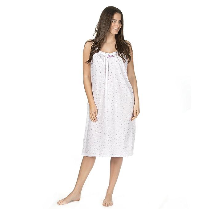Bay eCom UK Women Nightwear Rose Heart Print 100/% Cotton Sleeveless Long Nightdress L to 3XL