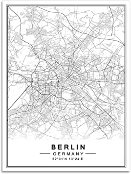 com kmaomaozsh printed on canvas berlin world map art
