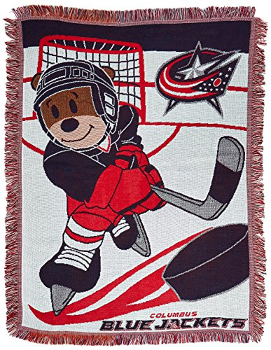 Officially Licensed NHL Columbus Blue Jackets Score Woven Jacquard Baby Throw Blanket, 36