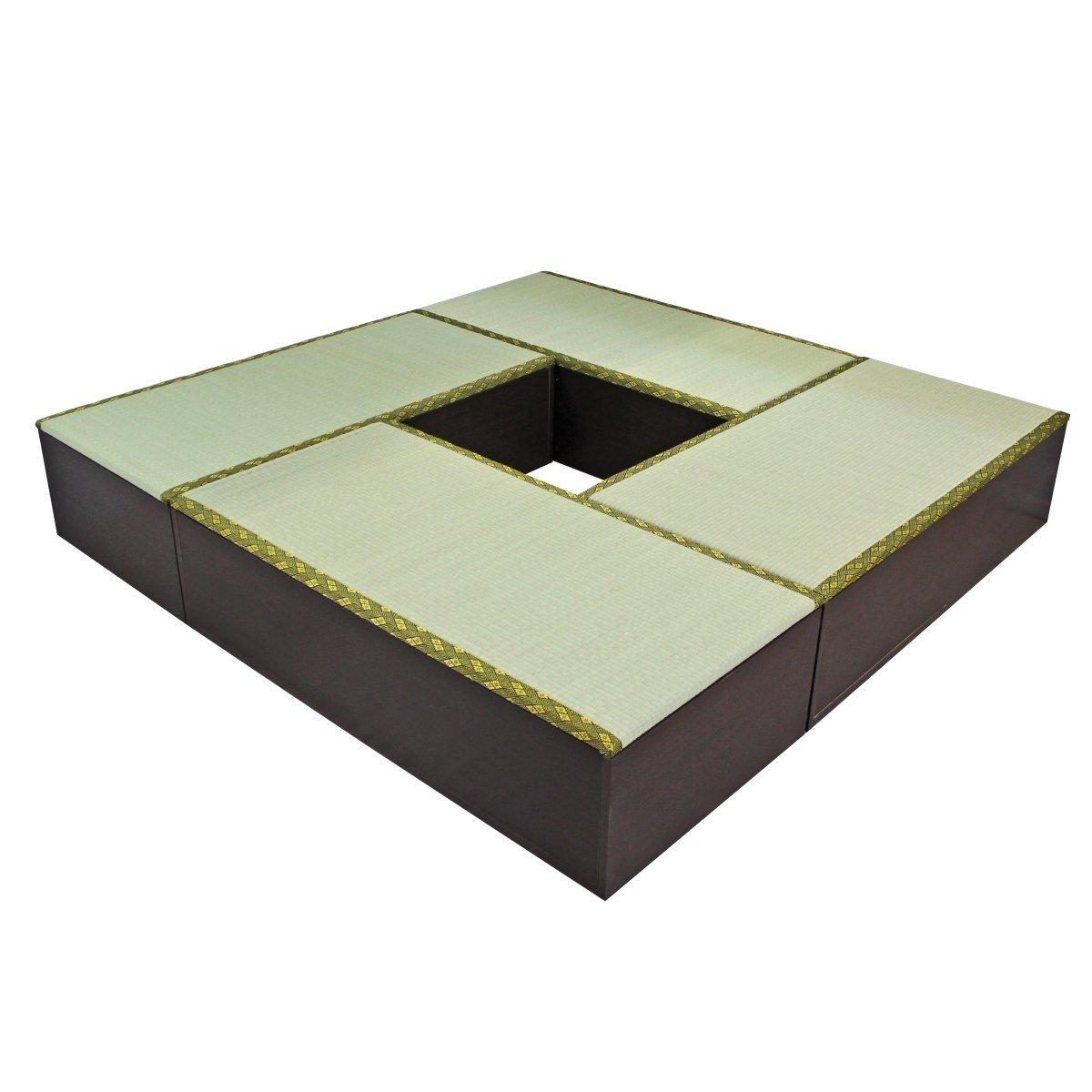 畳 ボックス 収納 高床式 ユニット 1畳タイプ4本 セット ダークブラウン UT-SET-4DBR J-Supply   B008ECPK7E