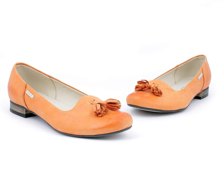 Zapato 009 Damen Ballett Ballett Ballett Orange - Orange - Größe  EU 38 46727e