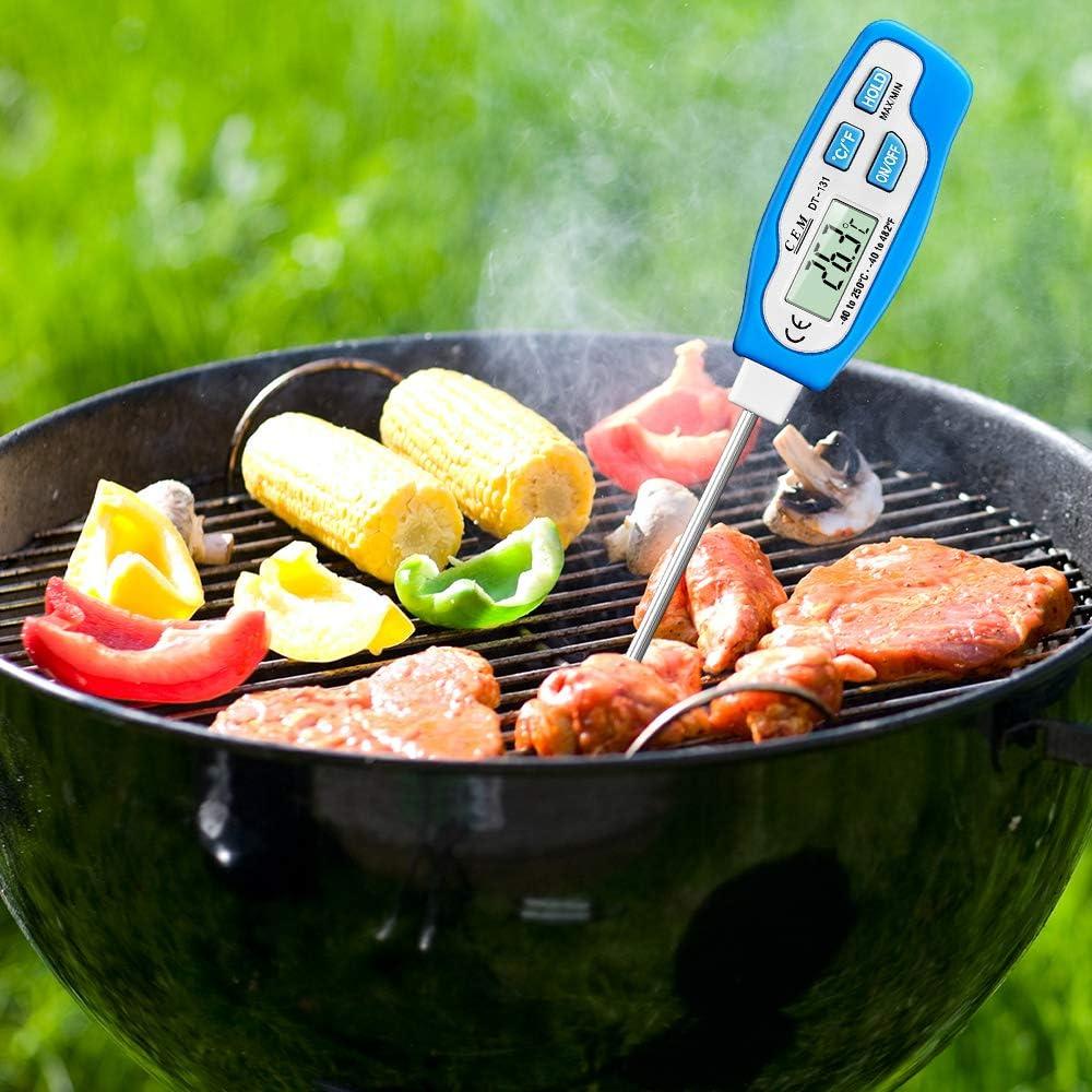 Cem Thermometer Dt 131 Stifttyp Lcd Nahrungsmittelthermometer Küchenthermometer Schnelle Reaktion Und Hohe Genauigkeit Auto