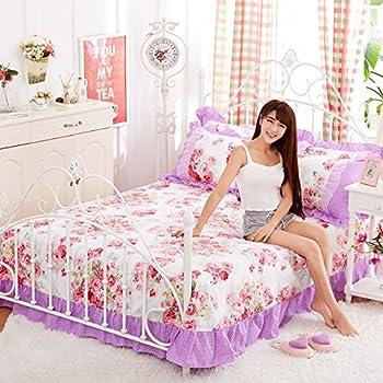 Bed SET 4pcs Princess Style Lycra Cotton Lace Bedding Set Duvet Cover No  Comforter Pillow Cases