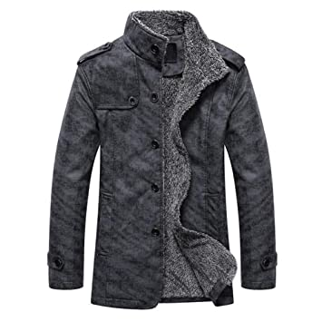 25bb6ca904d Men s Plus Cotton Warm Fur Collar Casual Button Military Cargo Jacket  Outwear Parka Winter Quilted Coat