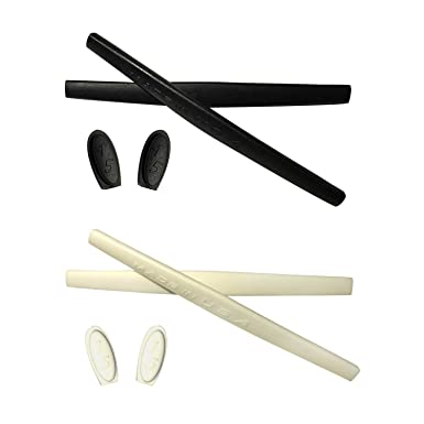 HKUCO Black Replacement Silicone Leg Set For Oakley Juliet Sunglasses Earsocks Rubber Kit