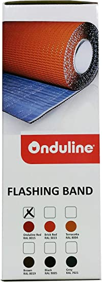 Onduline P693 Aluminum Flashing Band with Butyl Adhesive Brick Red