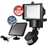 (100 LED) Solar Security Light, Motion Sensor for Garden Patio Garage Wall, Increase Home Security – Energy Efficient – Easy to Install – Waterproof