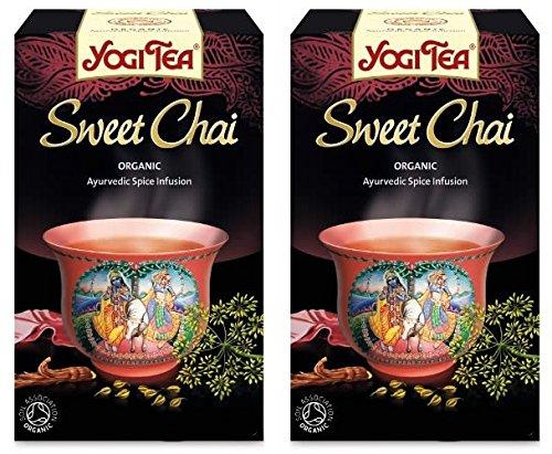 (2 Pack) - Yogi Tea - Sweet Chai | 17 Bag | 2 PACK BUNDLE