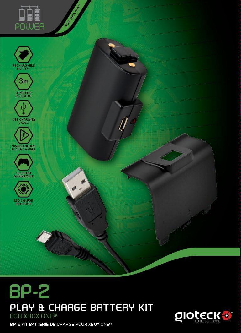 Gioteck - Battery Kit Play & Charge Bp-2 (Xbox One): Amazon.es: Videojuegos