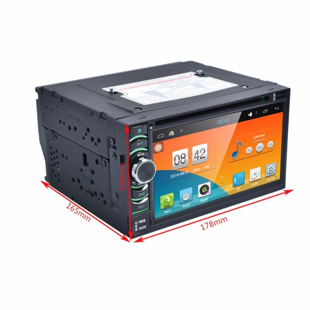 Morrivoe 2 Din 65 Inch Android 44 Quad Core Cpu Hd 1080p Tft Lcd Budget Gps Wiring Diagram Touch Screen Bluetooth In Dash Vehicle Car Audio Video Stereo Cd Dvd Mp3 Mp4 Player With Usb Sd Aux Input3d Navigationfm Am Radio