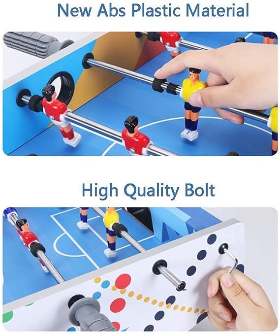 MJ-Games Mini Jugadores de futbolín/futbolín, Juegos de Interior, niños, Familia, Juegos, Deportes, diversión, Adecuado para Personas Mayores de Tres años, Azul: Amazon.es: Hogar