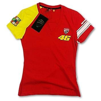 Ducati Corse Motogp Valentino Rossi 46 Damen Rot T Shirt 3205 07 Rot
