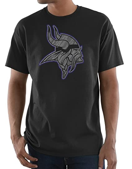 Minnesota Vikings Majestic NFL  quot Primetime quot  Men s Short Sleeve  Black T-Shirt 36e8a8d49