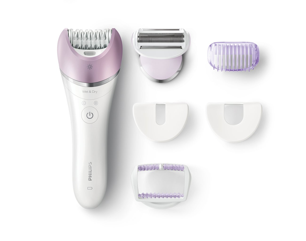Philips Satinelle Advanced BRE630, Wet & Dry Hair Removal Epilator, Rechargeable, 6 accessories