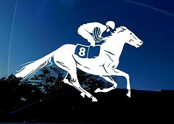 Jockey Horse Racing Sports Home Decor Car Truck Window Decal Sticker