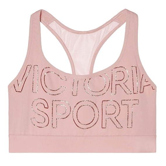 98fb06e3d115 Image Unavailable. Image not available for. Colour: Victoria's Secret VSX Victoria  Sport Bralette Sports Bra - Nude Pink ...