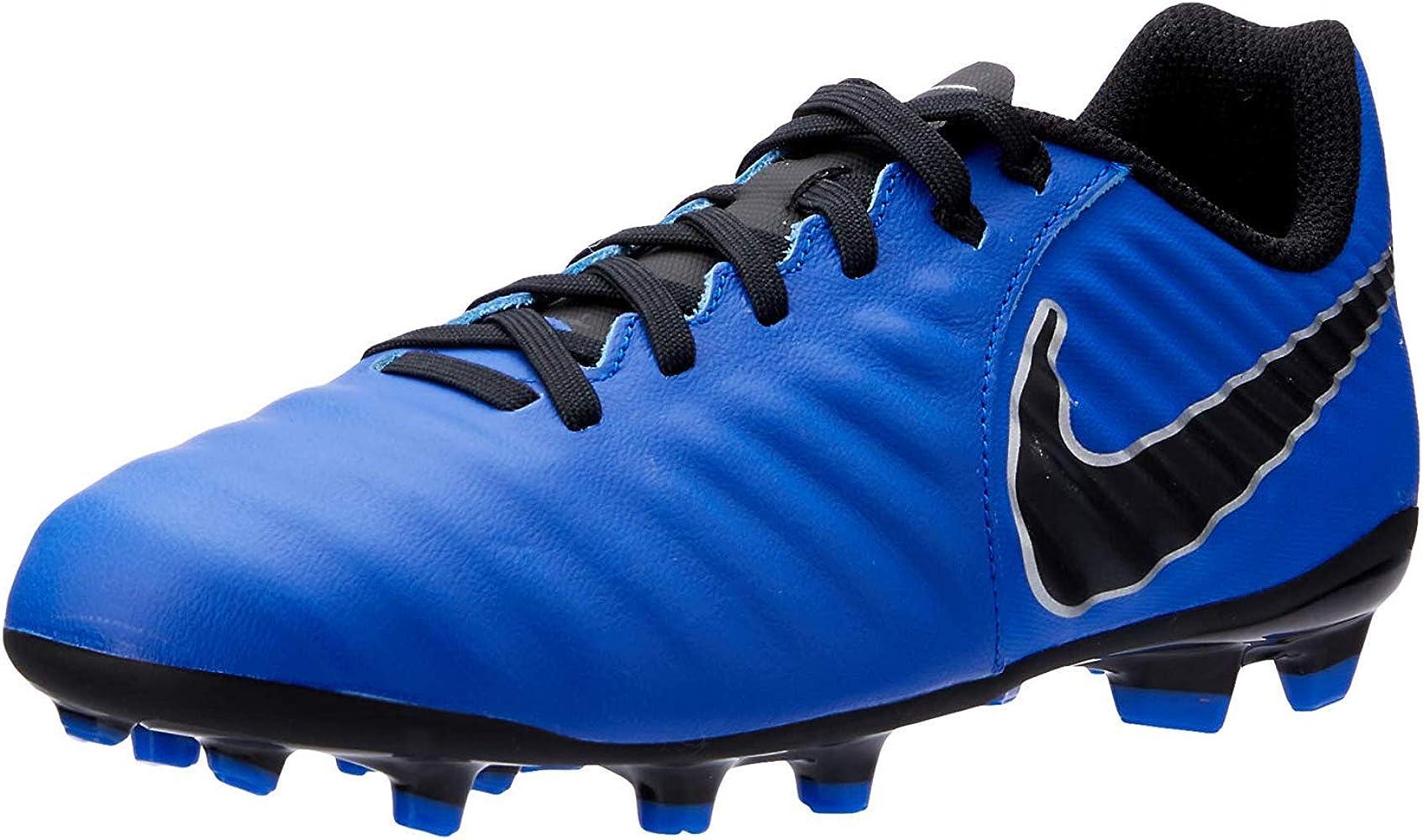 Predecir cáustico por ejemplo  Amazon.com: Nike Kids Jr Tiempo Legend 7 Academy FG (2Y US, Blue/Black):  Shoes