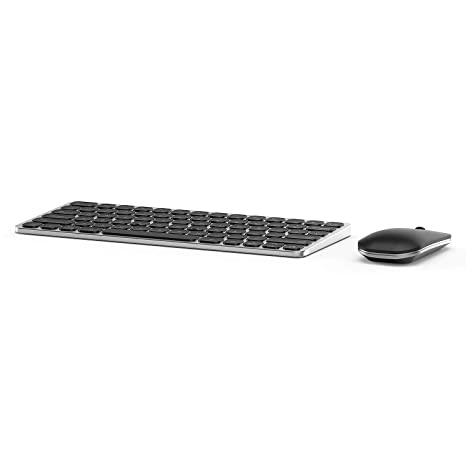 dfc854f9895 Wireless Keyboard Mouse, Jelly Comb KM033 Aluminium Alloy 2.4GHz Compact  Rechargeable Wireless Keyboard Mouse